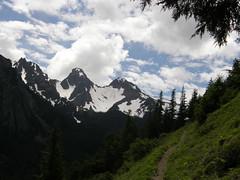 Views towards Buckhorn from upper trail.