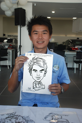 Caricature live sketching for Performance Premium Selection BMW - Day 2 - 18