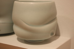 Four Cups - Detail (Slow Little Photo) Tags: college campus ceramics gallery exhibit photosofart photographingart