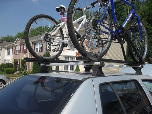 bikes on car