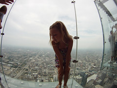 Sears Tower Sky Deck (jeff.minarik) Tags: city sky chicago tower weather clouds illinois sears go fisheye pro hd willis