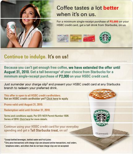 Starbucks - Coffee On Us!