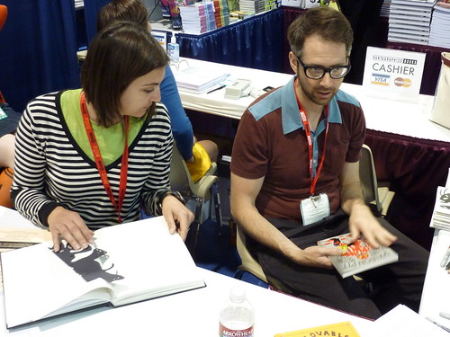Esther Pearl Watson & Johnny Ryan at Fantagraphics, Comic-Con 2010