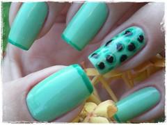 Unha da semana - Oncinha verde (Mhilka ♥) Tags: verde art nail nailart onça unha esmalte colorama francesinha
