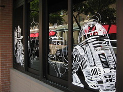 R2D2 Window Art