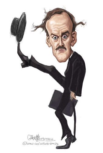 digital caricature of John Cleese - 4 colour small