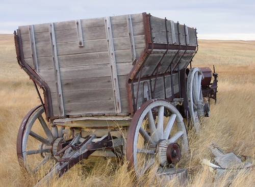 antique wooden wagon
