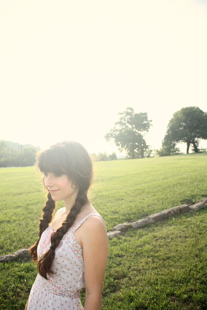 summertime braids and gunne sax dresses