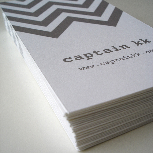 Chevron Calling Cards