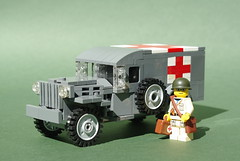 Dodge WC54 Ambulance (1) (Dunechaser) Tags: usa army us lego military ambulance worldwarii american ww2 dodge medic allies wc54 medicalcorps foitsop
