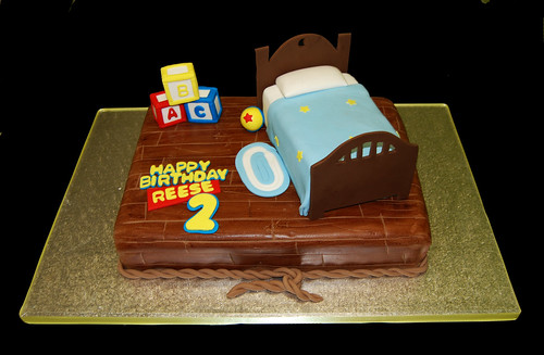Boys bedroom scene cake for a Toy Story themed birthday