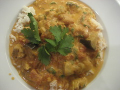Butter chicken with eggplant
