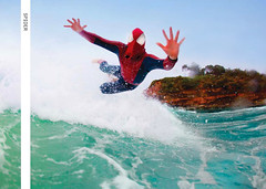 Dosh (chris scott.tv) Tags: money water fun spider flying hands surfer spiderman mona surfing vale northshore wallets dosh