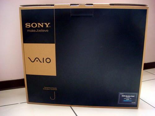 Vaio J118FWB AIO 原廠的 VaioJ 包裝箱