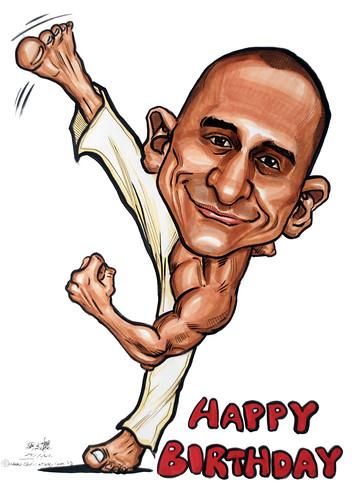 Capoeira caricature