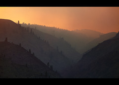 Wild fire above Wenatchee II (sparth) Tags: trees red wild landscape fire washington smoke july spooky burn layers wenatchee 70200 2010 wildfire buring 70200f4l