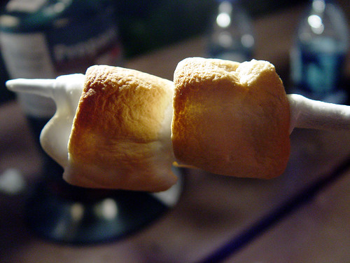 browned marshmallows