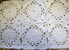 white diamonds (roomontheleft...) Tags: white crochet cotton tablemat