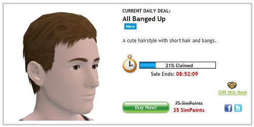 News - 8/2/10 – Sims 3 Store Daily Deals – 'All Banged Up' male