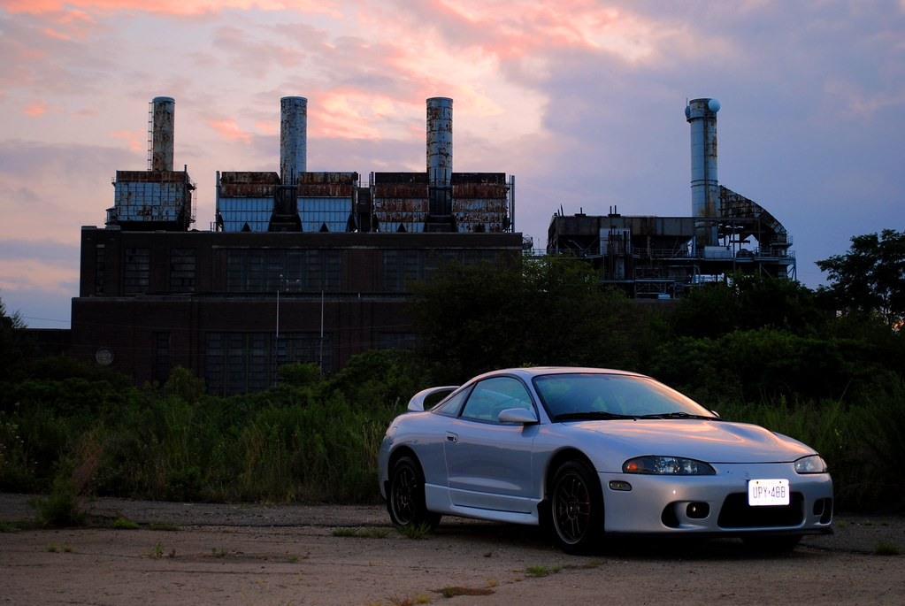 Quick Shoot (MattPallante) Tags: Sunset Sky Car Wheel Silver Eclipse  Automobile Rims Mitsubishi