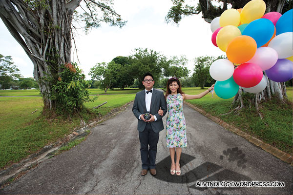 Alvin and Rachel as Carl and Ellie in UP