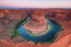 Horseshoe Bend Moonset