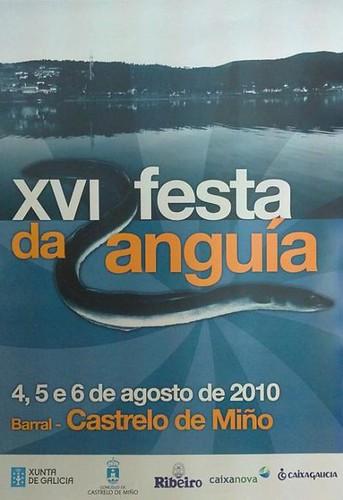 Festa da anguía de Barral - Castrelo de Miño 2010 - 16ª edición - agosto - cartel