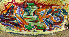 Enero (Yung GrassHopper) Tags: graffiti oakland bay enero area ase tfn
