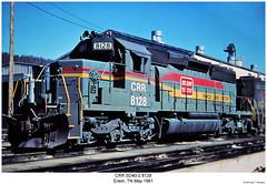 CRR SD40-2 8128 (Robert W. Thomson) Tags: railroad train diesel tennessee railway trains locomotive trainengine erwin crr emd sd402 sd40 clinchfield familylines sixaxle familylinessystem