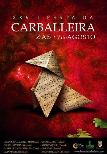 Festa da Carballeira de Zas 2010 - 27ª edición - agosto - cartel