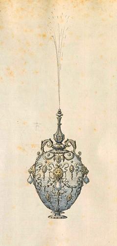003-Botella de perfume o fuente de mesa-Entwürfe für Prunkgefäße in Silber mit Gold-BSB Cod.icon.  199 -1560–1565- Erasmus Hornick