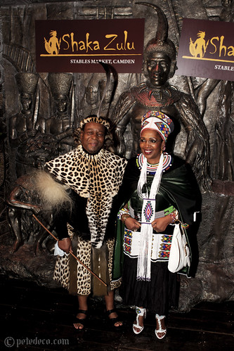 Goodwill Zwelithini kaBhekuzulu (Zulu King) with his wife @ Shaka Zulu