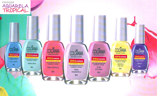 esmaltes colorama aquarela tropical