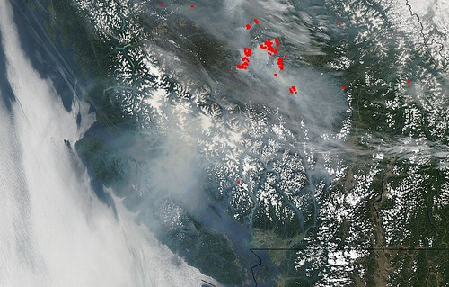 Wildfire haze in BC