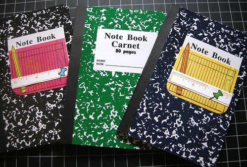 Altered note books (before and after)