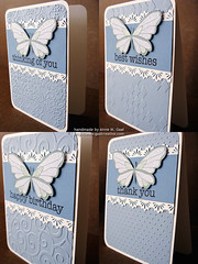 Butterfly Lace Stationery Set - Folds (prospurring (Anne)) Tags: blue green thanks butterfly ranger tan butterflies textile fawn hazel happybirthday sakura sunburst birthdays coloredpencils prismacolor heroarts stardust thankyous fiskars thinkingofyou diamondsintherough jetblack stonewash bestwishes swissdots cornerrounder stationeryset archivalink cuttlebug provocraft bazzillbasics waterproofinks divineswirl prospurring borderpunch cg130 borderpunches cl371 essentialmessages august2010a clingset clearglittergelpen