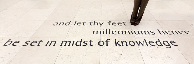and let thy feet millenniums hence be set in midst of knowledge