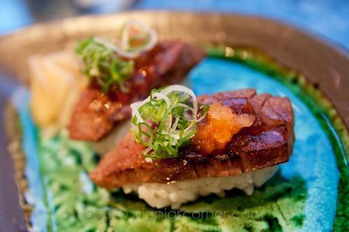 Sushi of Shiori wagyu beef