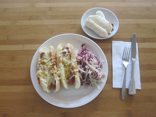 Michigan hot-dogs, coleslaw, ladyfingers from the bistro - $6
