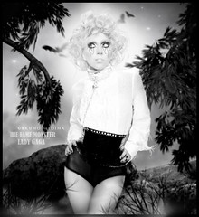 The Fame Monster - Lady Gaga . ( Bruno Medina) Tags: make monster lady plantas fame pedra cabelo gaga iluminao the recorte tratamento reconstruo morcegos