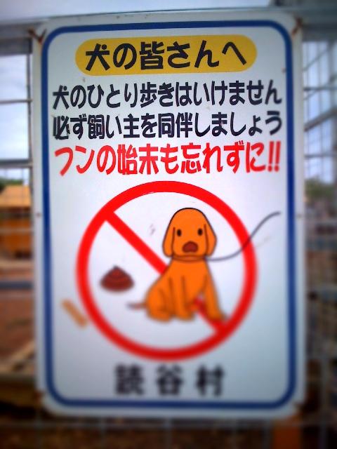 看板もう一つ☆…犬の皆さんへって…