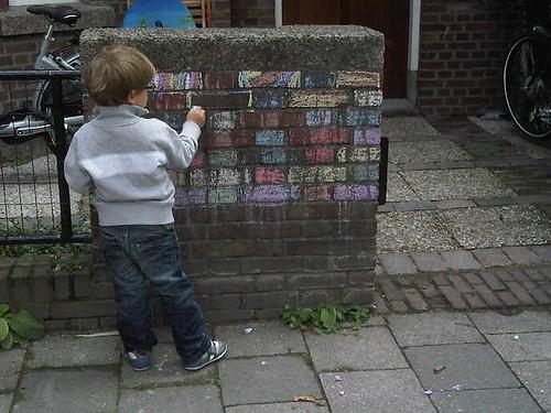 Graffiti artist aan het werk