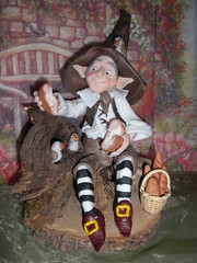 "folletto ""un p a me un p a te "" (mindi64) Tags: myself handmade io fimo fantasy clay fantasia pane creatur"