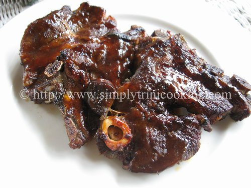 Oven Barbecue Lamb
