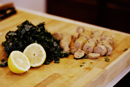 lemon kale sausage
