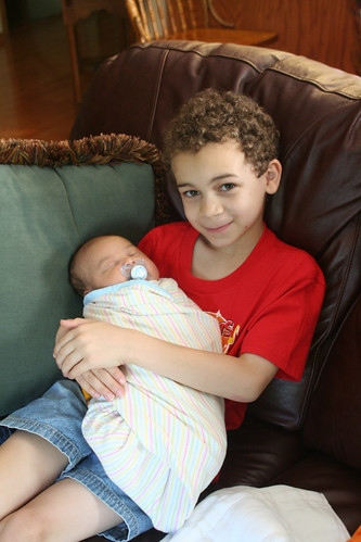 Aidan and His Cousin Lola