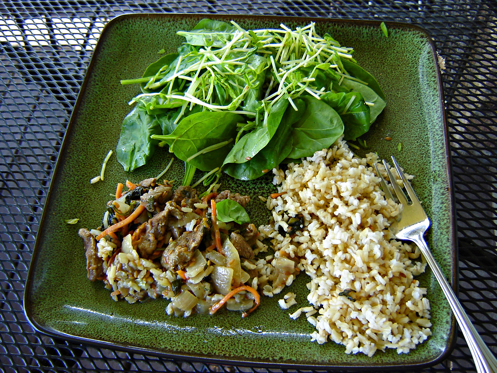 Stir Fry Beef & Brown Rice