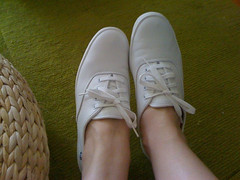 New white leather Keds #nurseshoes (KateKendall) Tags: white leather shoes flats casual keds whitelaces