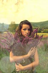 (AleksandraGabriela) Tags: flowers trees green happy still interesting holding warm purple bokeh upstate thinking blonde fields dreamy shorts lovely