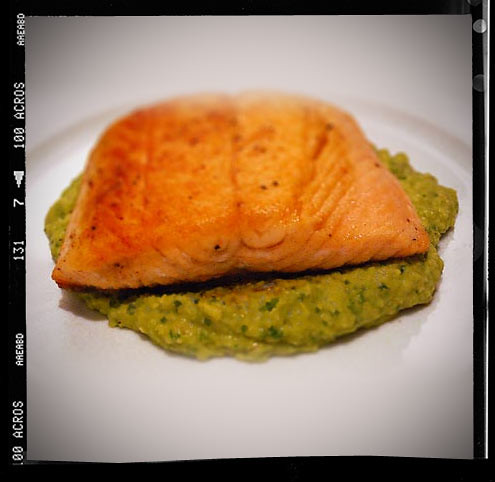 Pan Fried Salmon with Avocado Remoulade - Vegetarian Recipes